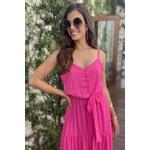 vestido longo rosa audela