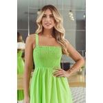 Vestido mídi lastex verde vida bela