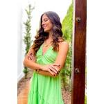 Vestido longo decote Verde Vida bela
