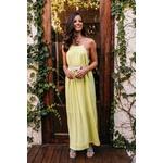 Vestido Longuete Liso Neon Verde