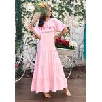 Vestido DBoneca Manu Rosa - Tamanho Único