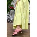 Vestido Manu Amarelo Lima - Tamanho Único