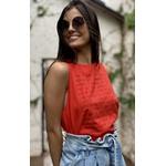 Blusa Regata Silk Vermelha