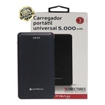 Carregador Portátil Compacto 5000 mAh Para Celular 3 Conectores Usb Tipo C Apple Android Iphone Power Bank Xtrax Original
