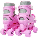 Patins Rollers Rosa C/ Kit De Protecao Importway Bw-017R