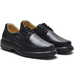 Sapato Masculino Conforto Preto Cadarço