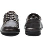 Sapato Masculino Conforto Cadarço Café