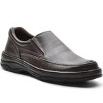 Sapato Masculino Conforto Elástico Café