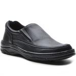 Sapato Masculino Conforto Elástico Preto