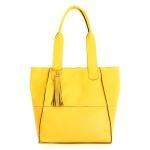 Bolsa Lagan em Couro Amarelo