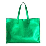 Bolsa Lagan em Couro / Verde Metalizado