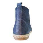 Bota em Couro / Camurça Jeans
