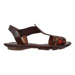 Sandália em Couro Chocolate / Colors