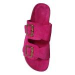 Birken em Couro/Camurça Pink Sem Costura