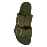 Birken Couro/Camurça Verde Militar