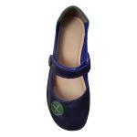 Sapatilha em Couro Stone Azul / Verde