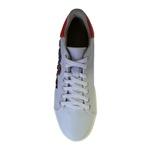 Tênis em Sintético Branco e Vermelho