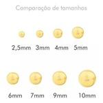 Brinco Bola 6mm Ouro 18k