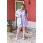 Blazer Linho Lavanda - Plus Size