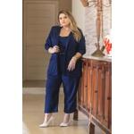Blazer Linho Azul Marinho - Plus Size
