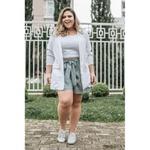 Blazer Linho Branco - Plus Size