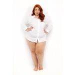 Camisa Social Branca - Plus Size