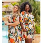 Top Babadinho Estampa Tropical - Plus Size