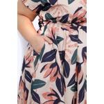 Vestido Gode Algodão Tulipas - Plus Size