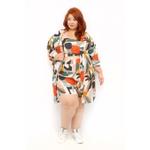 Quimono Estampa Tropical - Plus Size