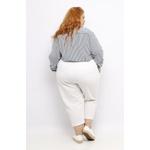 Pantacourt Linho Branca - Plus Size