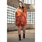 Camisa Manga Curta Estampa Savana - Plus Size