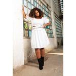 Top Corset Branco - Plus Size