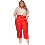 Camisa Social Off-White Poá - Plus Size