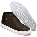 Tenis Casual Masculino Cano Alto D&R Shoes Couro Nobuck