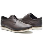 Sapato Casual Masculino D&R Shoes Em Couro Legitimo Café