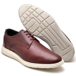 Sapatenis Casual Masculino D&R Shoes Em Couro Legitimo Vinho