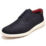 Sapatenis Casual Masculino D&R Shoes Couro Legitimo Marinho
