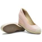 Kit Sapato Feminino DeR Shoes Em Couro Legítimo Day By Day Rose + Bolsa de Brinde.