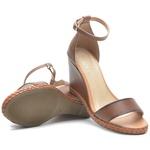 Kit Sandalia Feminina DER Shoes em Couro Legitimo Orchids Whisky