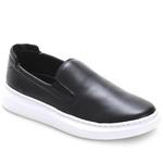Sapato Slip On Prime Masculino Em Couro Legítimo Preto