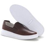 Sapato Slip On Prime Masculino Em Couro Legítimo Tabaco