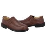 Sapato Masculino Conforto Em Couro Legítimo Marrom