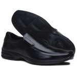 Sapato Social Conforto Masculino em Couro Ecologico Confort Preto