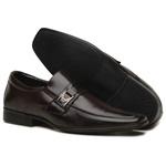 Sapato Social Masculino em Couro Ecologico Confort Café