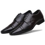 Sapato Social Masculino em Couro Ecologico Confort Cafe