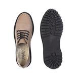 Sapato Oxford Feminino Casual em Couro Legitimo Areia