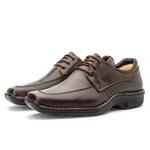 Sapato Masculino Conforto Em Couro Legítimo Café