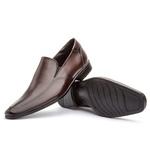 Sapato Social Masculino Calce Fácil Em Couro Legítimo Café