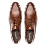 Sapato Social Masculino De Amarrar Em Couro Legítimo Whisky