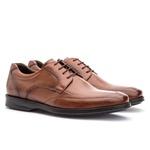 Sapato Social Masculino Conforto Em Couro Legítimo Whisky